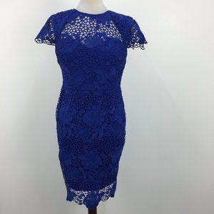 NWT Paper Dolls Royal Blue Lace Midi Dress